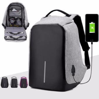 24bebbb9af95 HG Tas Anti Maling Anti Theft Backpack with USB External Charging Water  Resistant- abu