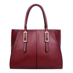 High Capacity Women's Simple Portable Shoulder Bag Cross-body Bag (Red)