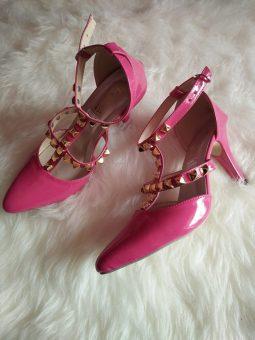 High Heels Sepatu Wanita Pink - S216