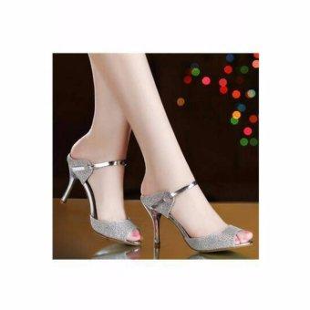 High Hill - High Heels Pesta KRD19 Silver