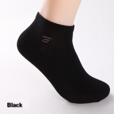 High Quality Brand Men's Socks Spring Summer 100% Cotton Boat Socks Man Casual Ankle Socks Male Fashion Low Socks 6pairs / Lot (Black) - Intl
