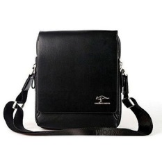 High Quality Men Messenger Shoulder Bag Genuine Leather Business Briefcase Black - Intl