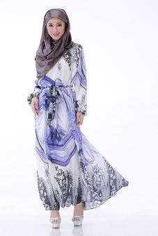 High quality Muslim gown Arab islamic women dress fashionable Soft Comfortable dresses - Dai color -