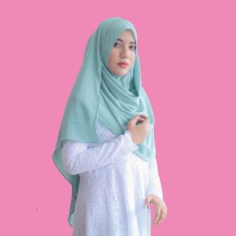 Hijab Instan - Bubble Pop Premium - Syuhada Collection - Hijau Pastel