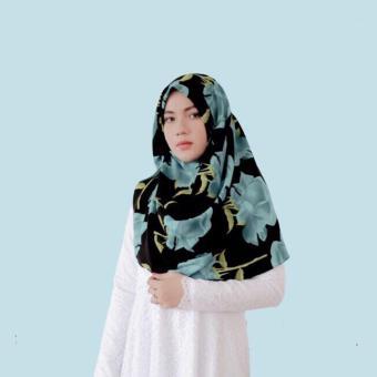 Diindri Hijab SHOP LINE Source · Hijab Instan Bubble Pop Premium Syuhada Collection Motif Bunga Hijau