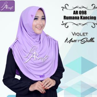 Hijab Instan Rumana Kancing Arrafi (warna Violet)