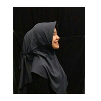 Hijab Instan Serut / jilbab simple / kerudung - (hitam)