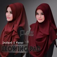 Hijab Pashmina Instan Flowing Pad-Maroon