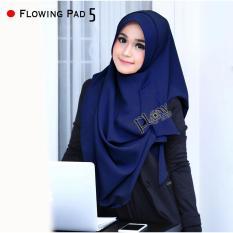 Hijab Pashmina Instan Flowing Pad-Navy