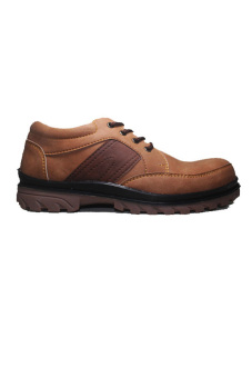 Hikers Shoes Low Boots Safety Mix Brown