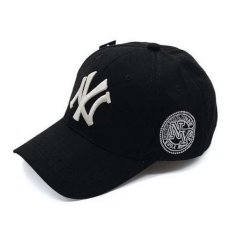 Hip-Hop Style Lovers Adjustable Snapback Cotton Baseball Cap Unisex - Hitam