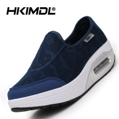 HKIMDL Air Cushion Thick Bottom Increased Shake Shoes Sandals Shoes Fashion Korean Pine Cake Cool and Leisure Shoes Blue- Intl