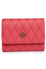 HKS Fashion Women Lady Faux Leather Wallet Holder Card Purse Clutch Handbag Red