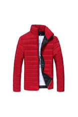 HKS New Fashion Mens Winter Slim Fit Jacket Padded Coat Overcoat Parka (Red) (Intl)