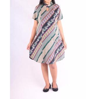 HMILL Baju Hamil Dress Hamil Batik 1224 - Hijau