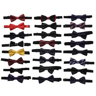 HomeGarden Classic Adjustable Men's Bow Tie Wedding Party Necktie Bowtie For Men L01