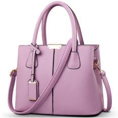 Hot Sale 2016 New Fashion Big Bag Women Shoulder Messenger Bag Ladies Handbag -purple - Intl