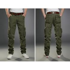 Hot Sale 2017 New Casual Men's Tactical Cargo Pants Slim Multi Pocket Men's Pants Three Colors Available Fashion Cargo Pants Hot Sale (Army Green) - Intl