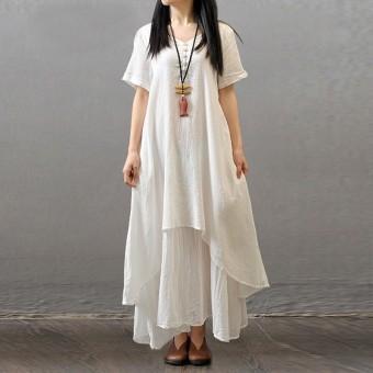 4d82308c4c Hot Sale ZANZEA Fashion Summer Dress 2016 Sexy Women Casual Short Sleeve  Cotton Linen Dresses Long