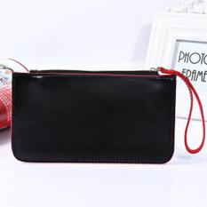 Hot sale zipper women hand bag clutch purse simple student slimphone package fashion women wallets casual pu Leather DL1987 - intl