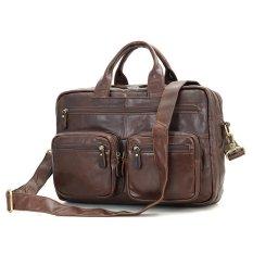 Hot Selling Brown Genuine Vintage Leather Men's Backpack Laptop Bag