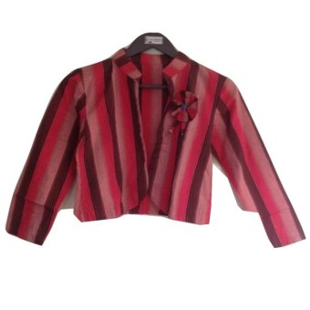 House of Shaqina Blazer Flower Tenun - Red
