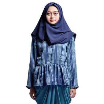 House of Shaqina Top Minang Peplum - Biru