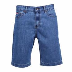 Hush Puppies Celana Pendek Jeans Pria Verde - Biru Muda