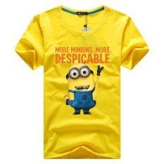 Ilife Store Mens Casual T-shirt Sports T Shirt Minions Print Cotton Plus