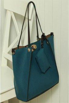 Ilife Women's Fashion Vintage Package Shoulder Bag Women Messenger Bags Women Leather Handbags Blue