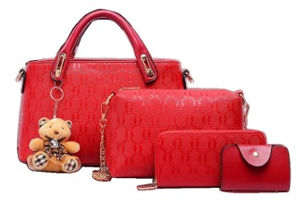 Eksklusif Merah Source Vicria Tas Branded Wanita High Quality Korean Elegant Bag Style .