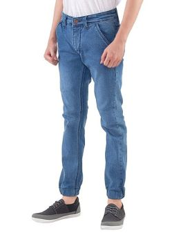 Inficlo SPN 213 Celana Jeans Jogger Pria - Jeans Strech - Bagus (Biru)