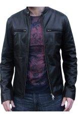 J-Brille Men Semi Leather Jacket - Standard - Hitam