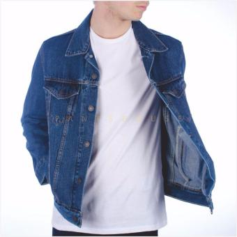 Jaket Denim Pria Slim fit Cut - Biowash