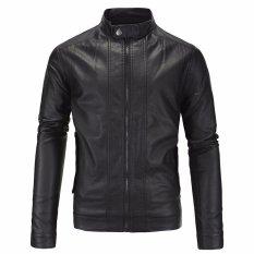 Jaket Kulit - Jaket Kulit Model Design Bikers - Black