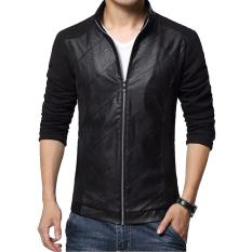 Jaket Kulit - Jaket Pria Leather CombyStyle - Hitam