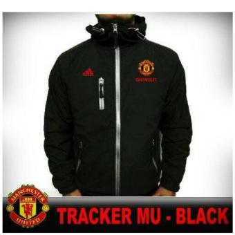 Jaket Tracker Manchester United / MU Black