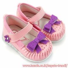 Javana Sepatu Anak Bayi Pita Ungu Cantik - Pink