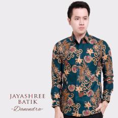 Jayashree Batik Kemeja Slimfit Danendra Green Long Sleeve Men