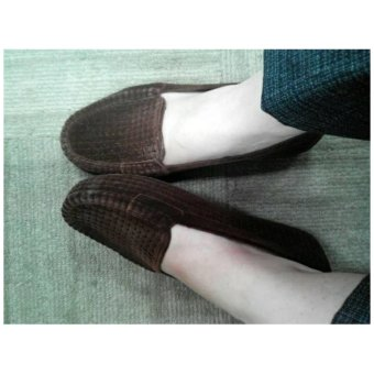Jelly Shoes Flat Beludru (Brown)