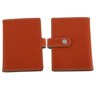 Jeruk PU kulit kasus bisnis tas dompet pemegang kartu kredit untuk20 kartu
