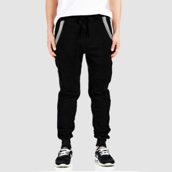 Jfashion Celana Jogger Training Pria dewasa Variasi seleting - Basic jogger