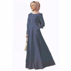 Jfashion Long Sleeve Chambray Gamis Fashion - Biru