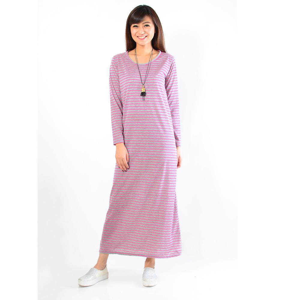 Jual Long Dress Terusan Gamis Jual Bt3591 Pakaian Kemeja