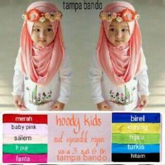 Jilbab Anak Hoodie Polos