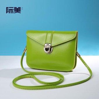 Eropa dan Amerika bordir perempuan baru bahu Messenger Bag tas (Hitam)