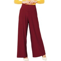 JO & NIC Jersey Wide Pants - Long Culottes - Maroon