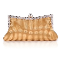 Jo.In Clutch Women's Handbag Lady Party Crystal Evening Bags Gold