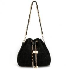 Jo.In Lady Women Retro Messenger Shoulder Bag Handbag Tote Satchel Clutch Black