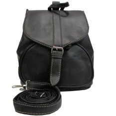 Jobay Promo Tas Ransel Fashion,Backpack,Tas gemblok ,Tas selempang,slingbag 2In1 abriana-Hitam